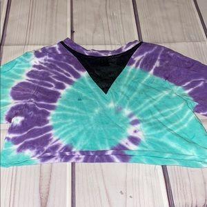 cropped tie dye shirt